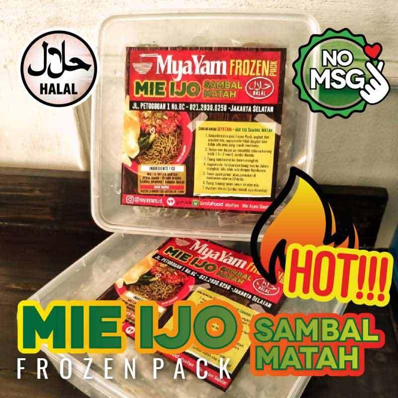 MyaYam Mie Ijo Sambal Matah Frozen Pack 3 Pcs