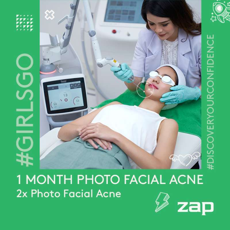 Jual 1 Month Package 2x Photo Facial Acne Zap Clinic Online Desember 2020 Blibli