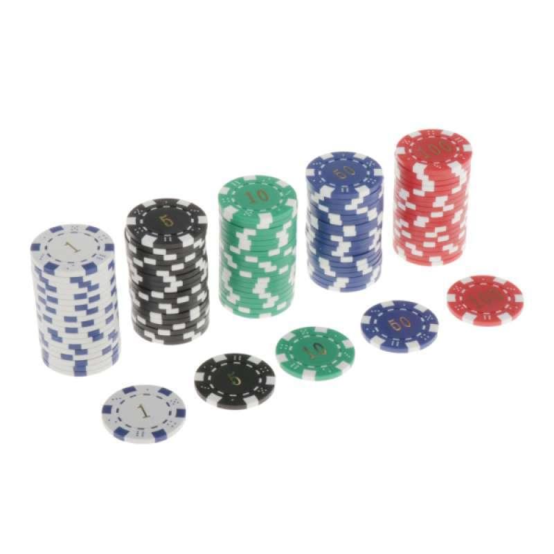 Jual Lots 100 Chips Texas Hold Em Poker Chip 11 5g Casino Board Game Token 4cm Online Maret 2021 Blibli