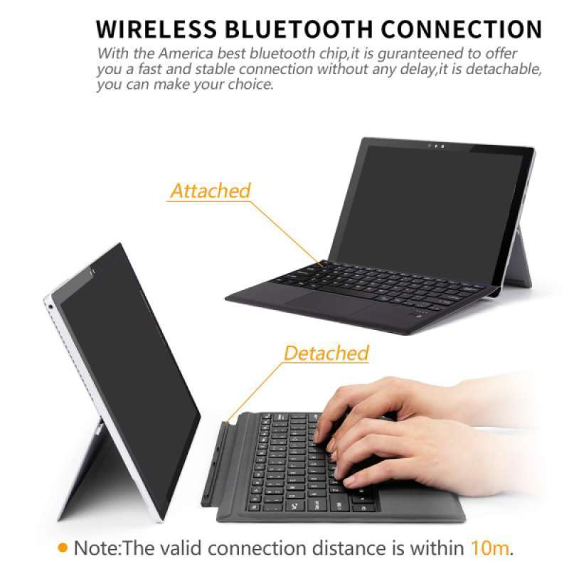 Jual Wireless Bluetooth Remote Keyboard Touchpad For Surface Pro 3 4 Rechargeable Online Maret 2021 Blibli