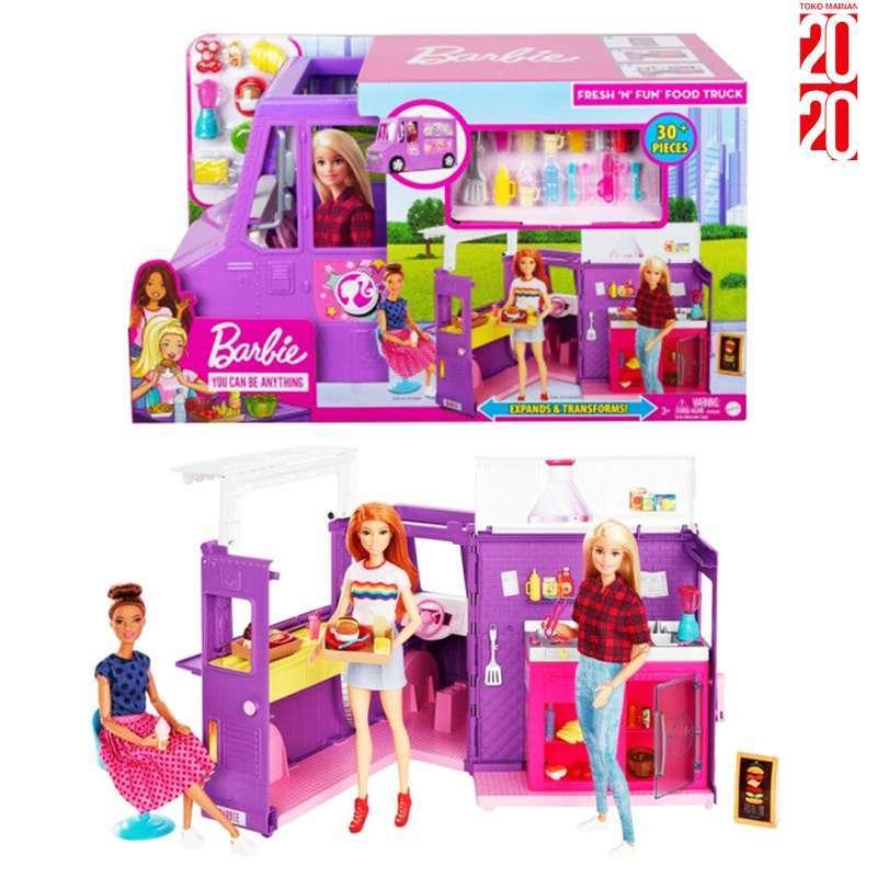 Jual Barbie Fresh And Fun Food Truck Original Mainan Barbie Gmw07 Online November 2020 Blibli Com