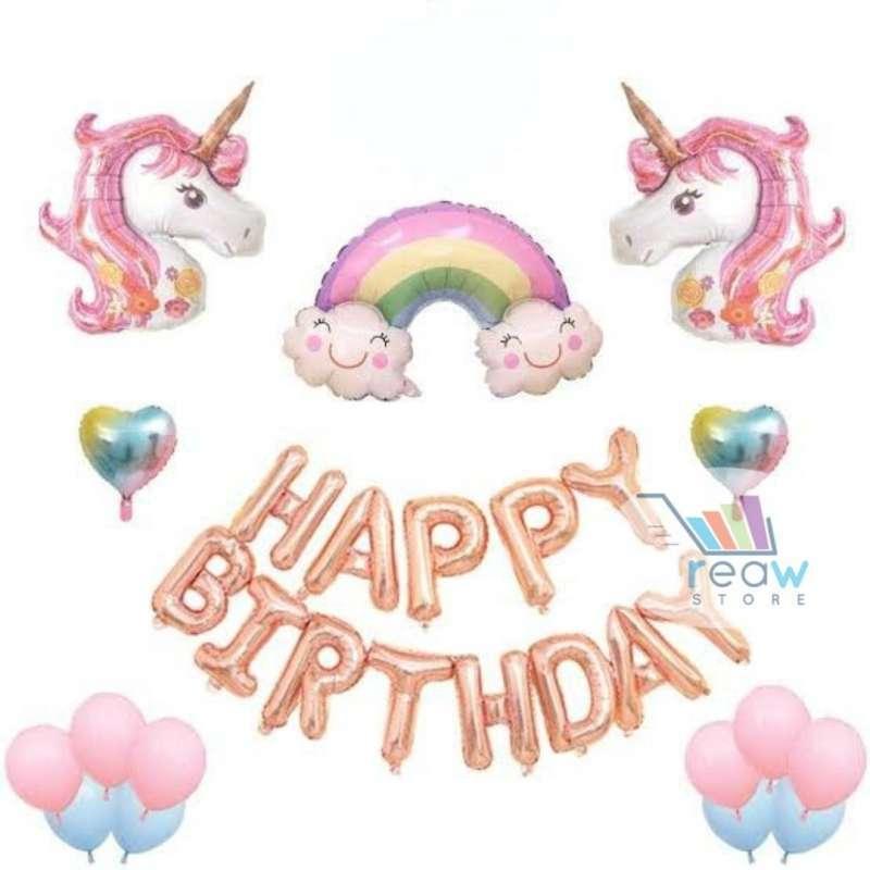 Jual Paket Dekorasi Balon Ulang Tahun Happy Birthday Pegasus Unicorn 04 Online November 2020 Blibli Com