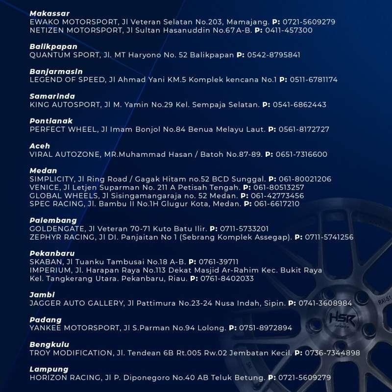 Jual Velg Mobil R20 Hsr Myth10 Pcd H6x139 7 Et25 Online Februari 2021 Blibli