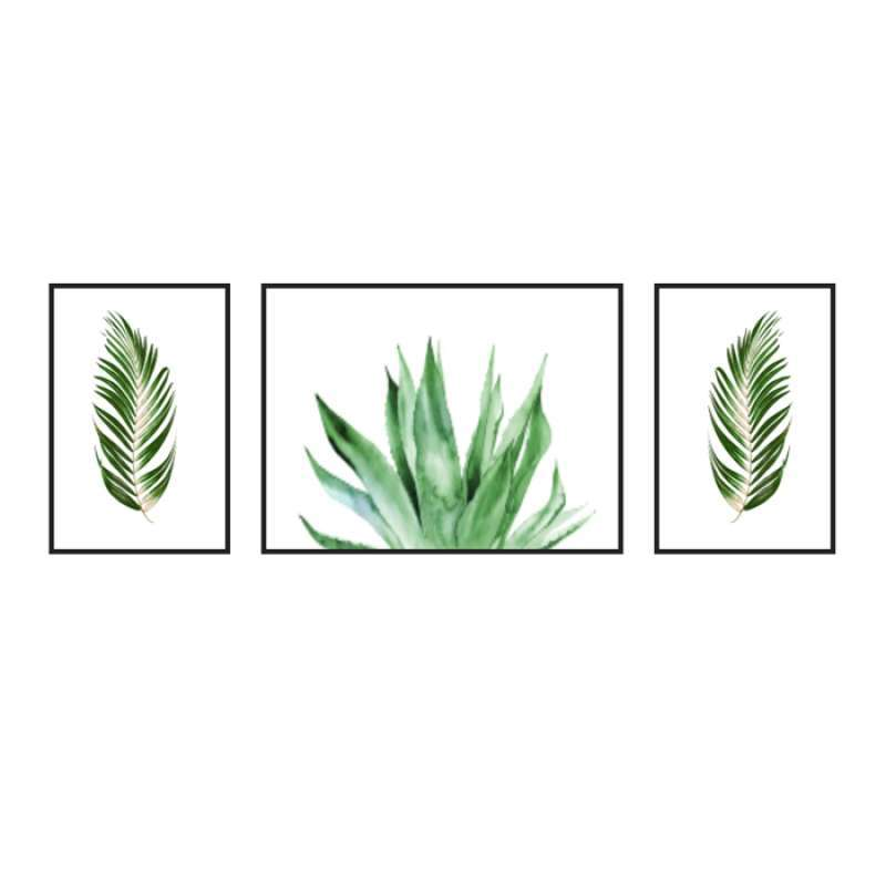 Lukisan Dinding Palm Tree Leaves