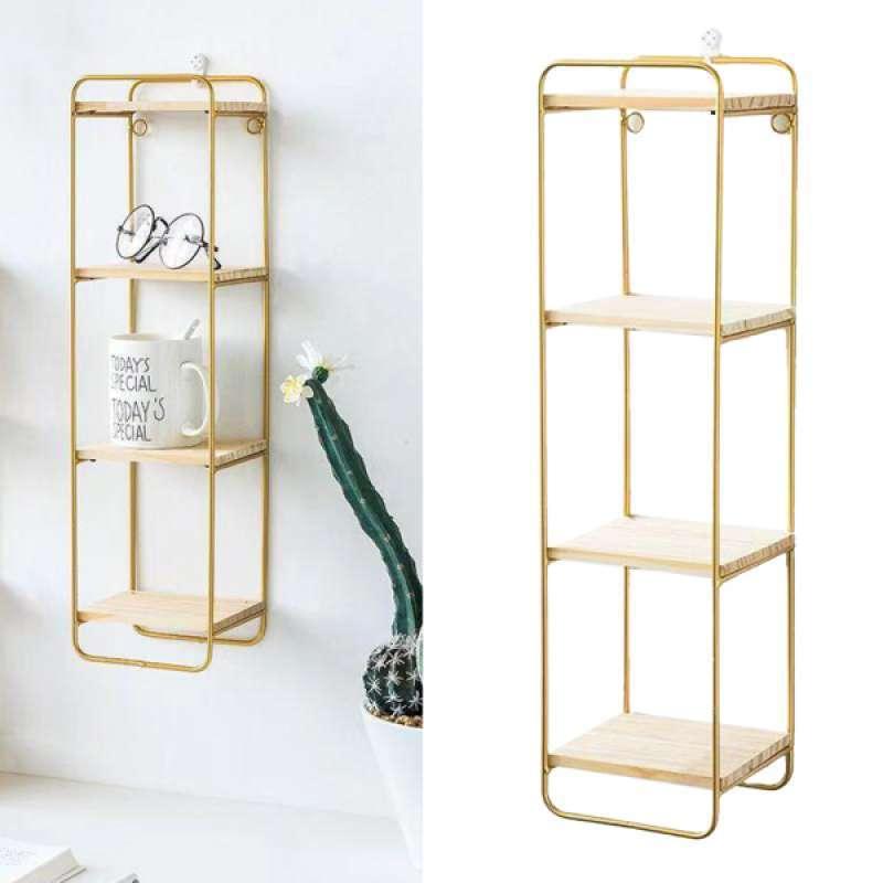 Jual Wrought Iron Wall Shelves Home Organizer Rack Rectangular Bedroom Decor Online Februari 2021 Blibli