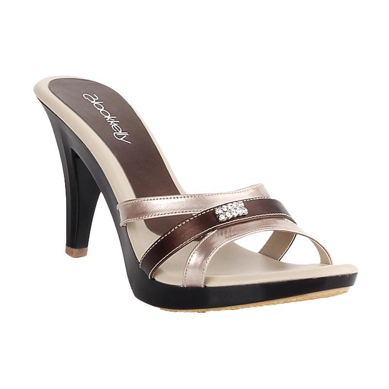 Blackkelly Carissa LJP 553 Sandal Heels Wanita - Krem