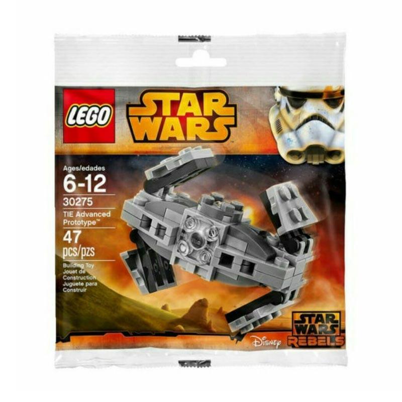 LEGO 30275 - Star Wars TIE Advanced Prototype Lego Star Wars TIE Advanced Prototype 30275 Mainan Blok & Puzzle