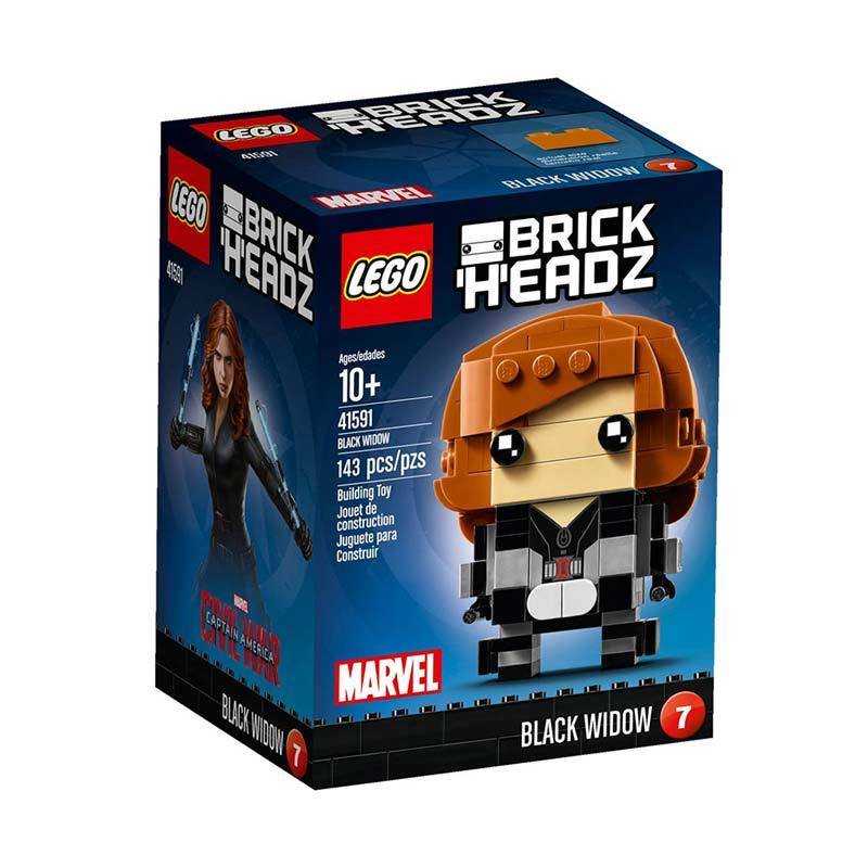 Lego Brick Headz 41591 Black Widow Blok & Puzzle