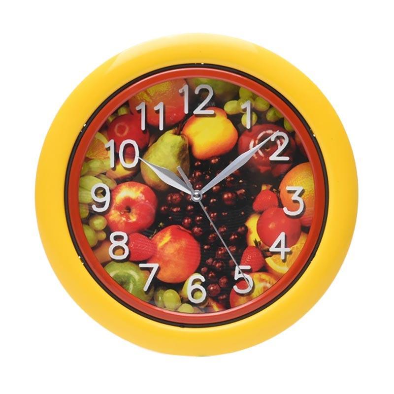 Miracle BA 08 Motif Buah Ring Jam Dinding - Yellow [25 cm]