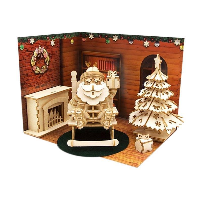 Kigumi Christmas Set 3D Puzzle Kayu