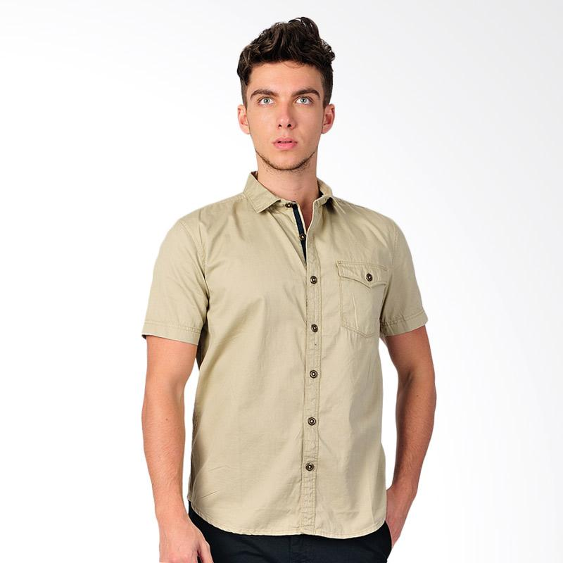 SJO & SIMPAPLY New Tanaska Men's Shirt Kemeja Pria - Brown
