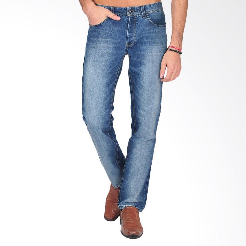SJO & SIMPAPLY Stainwash Men's Jeans - Dark Blue