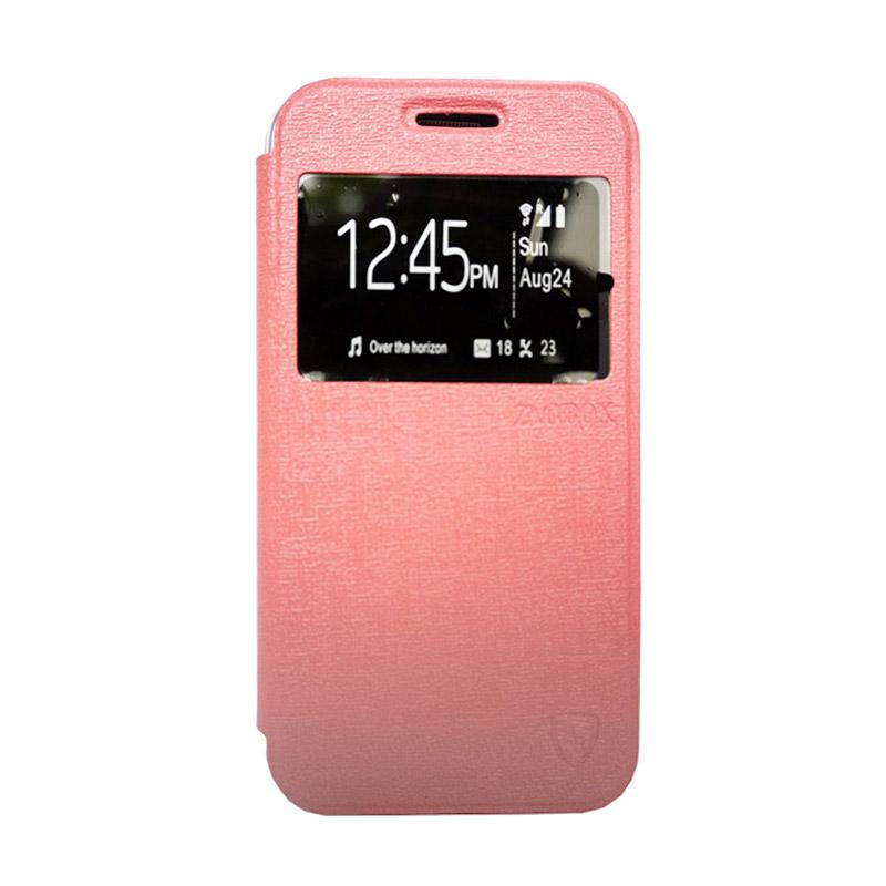 Zagbox Flip Cover Casing for Asus Zenfone 4 - Pink