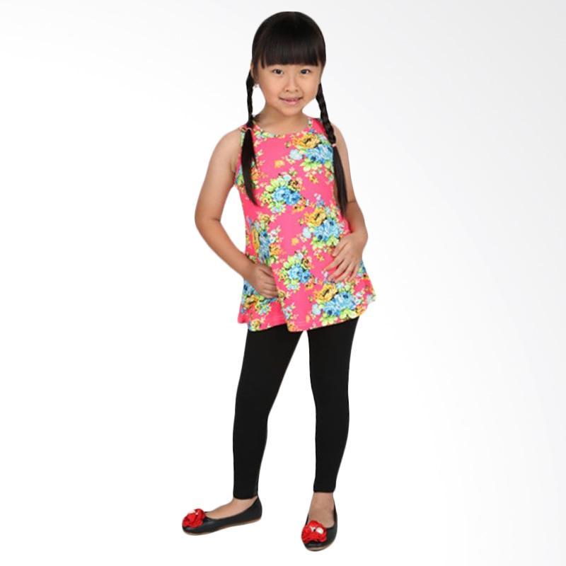 Adel & Audrey Flower 129 Dress Anak - Pink