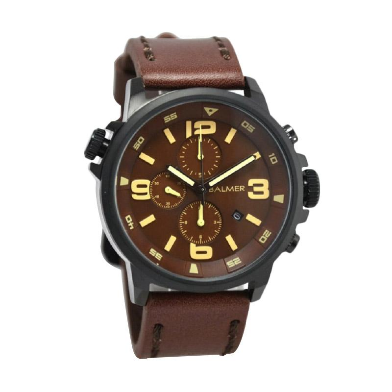 Balmer B.7903MB Jam Tangan Pria - Dark Brown Black