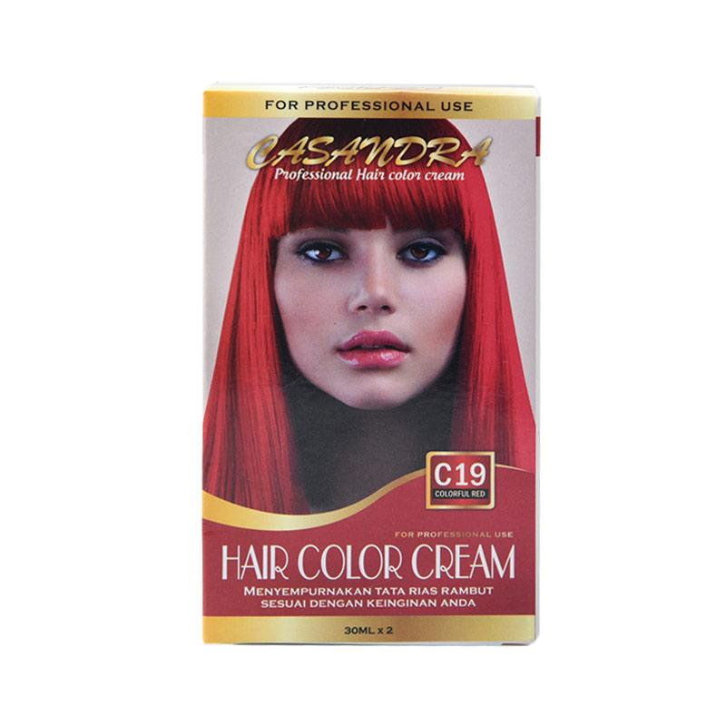 Casandra C19 Hair Color Cream - Colorful Red