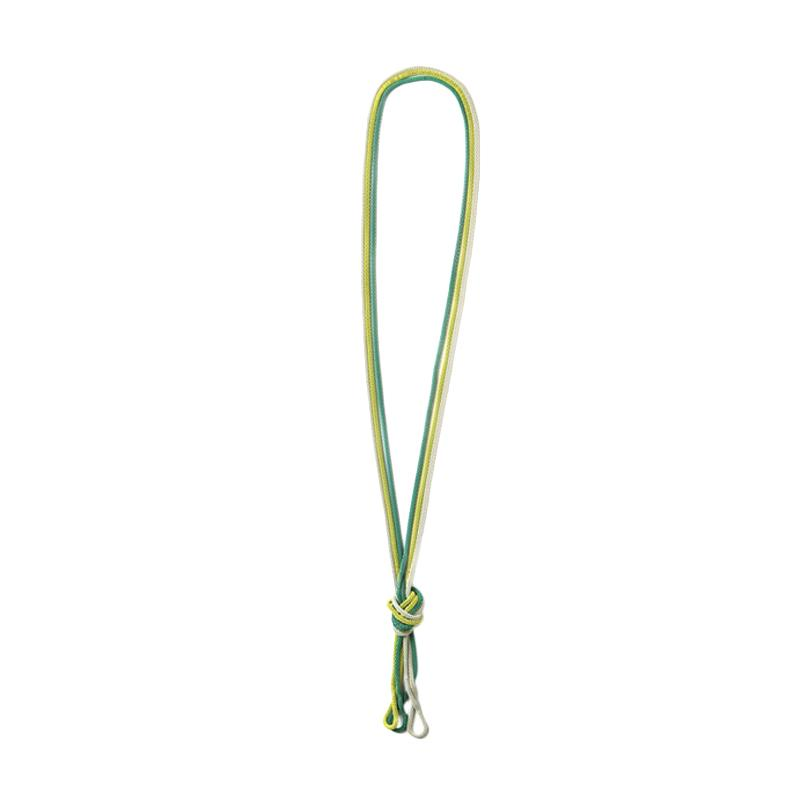 Momy Ribbon Tassel Green Necklace