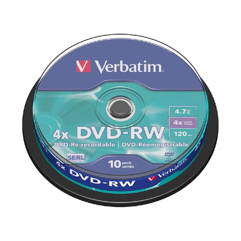 harga Verbatim DVD-Re- recordable DVD-RW [10 Pcs] Blibli.com