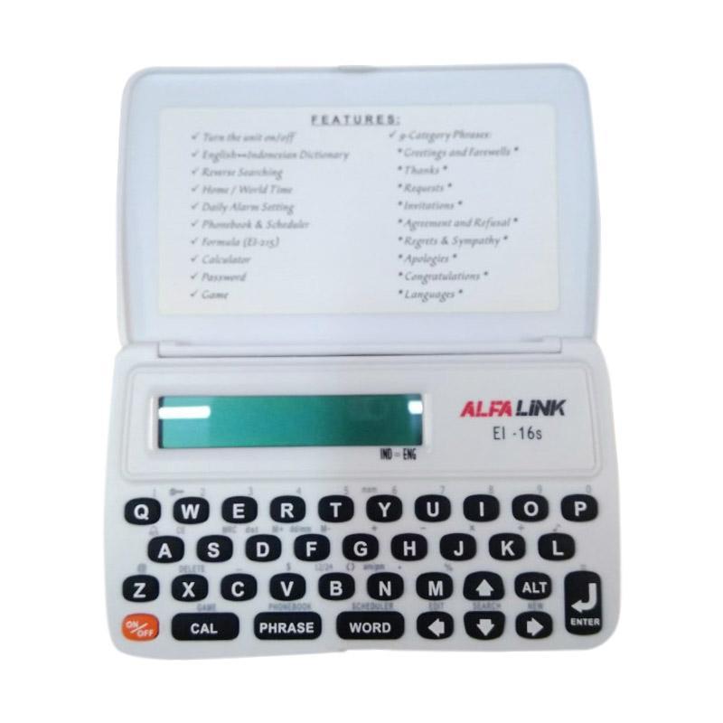 Jual Alfalink EI-16S Kamus Elektronik - Putih Online - Harga & Kualitas Terjamin | Blibli.com