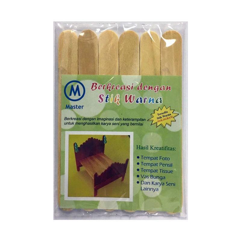 Master Craft Stick Kayu Polos [Jumbo]
