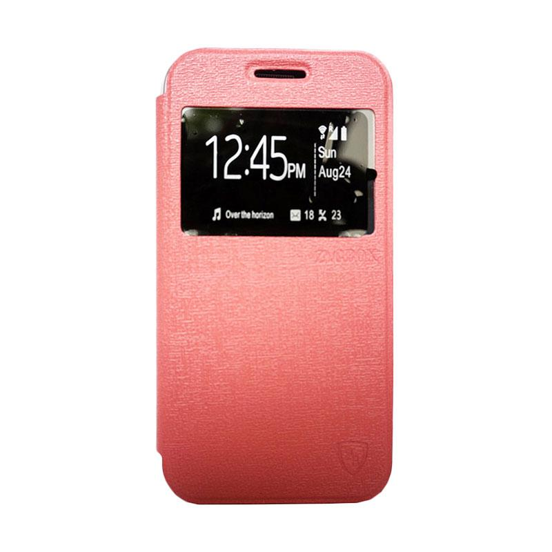 Zagbox Flip Cover Casing for Asus Zenfone 6 - Pink