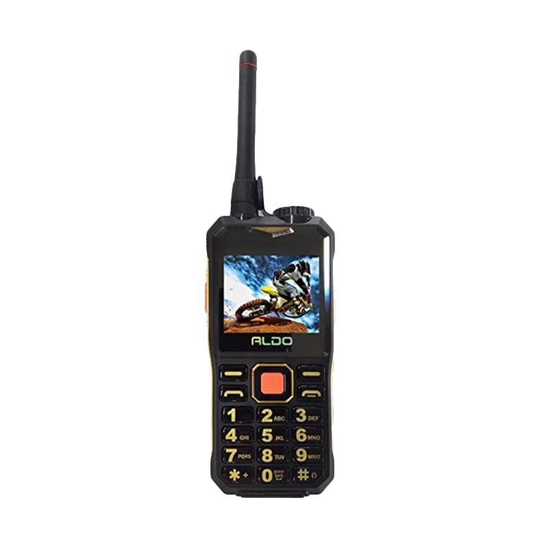 Aldo AL007 Powerbank Walkie Talkie Handphone - Black Gold