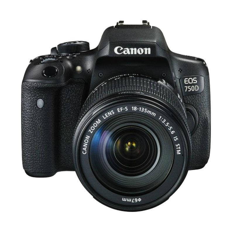 harga Canon EOS 750D Kit EF-S 18-135MM IS STM Kamera DSLR ( Free Screenguard Terpasang ) Garansi Resmi | Ladang Blibli.com