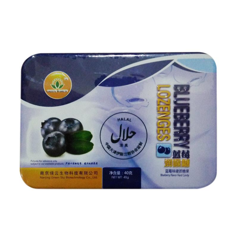 Green World Blueberry Lozenges Suplemen Kesehatan