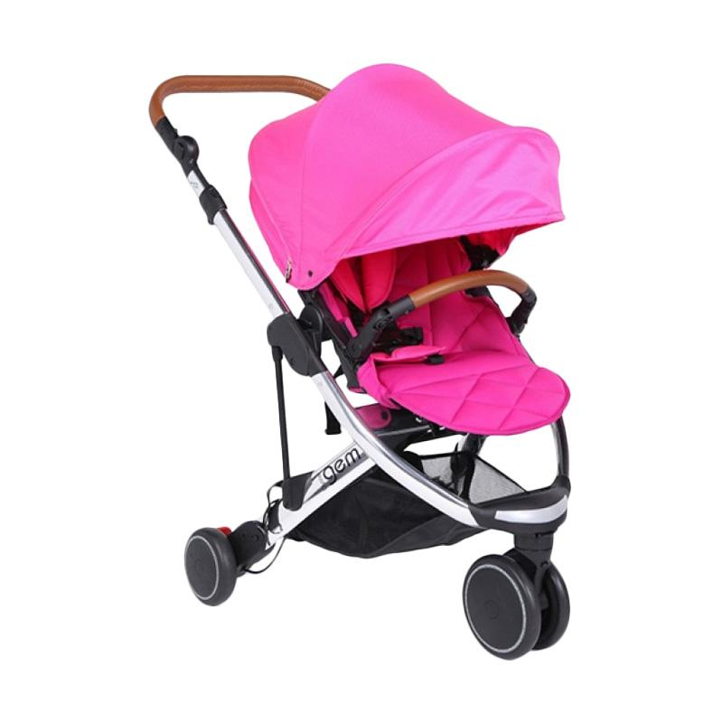 OYSTER Gem Stroller Mirror Pink [FREE Oyster Infant Carrier & Adaptor]