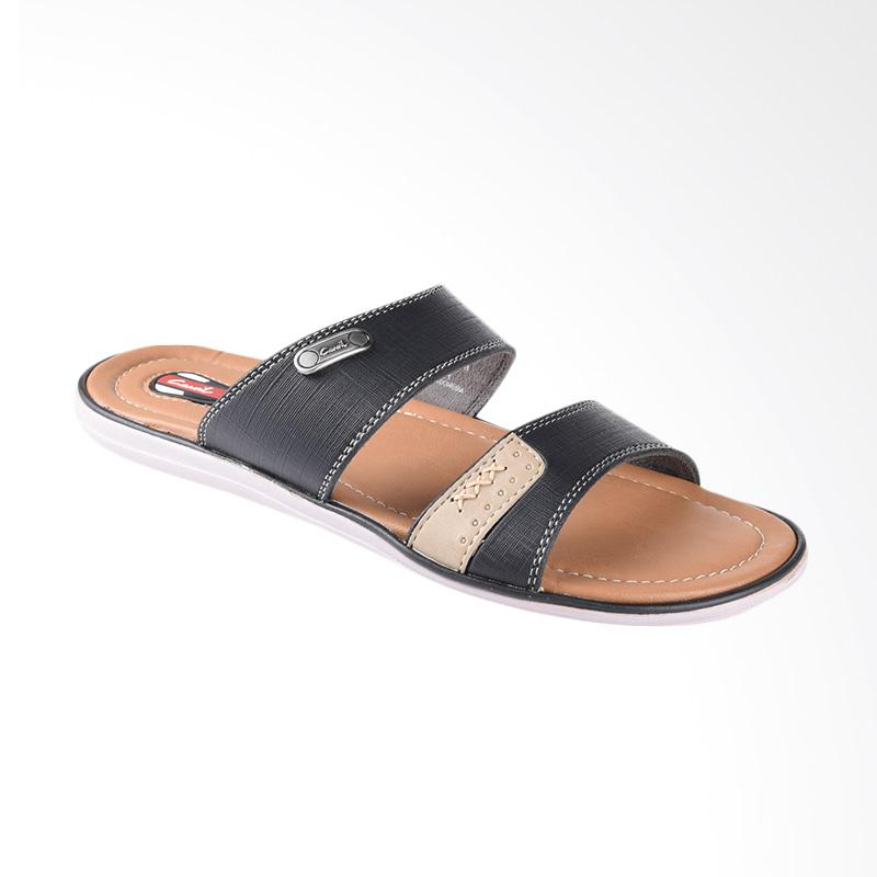 harga Carvil Coross Sandal Casual Pria - Black 712M Blibli.com