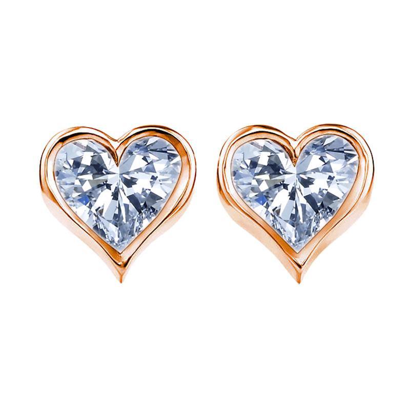 Tiaria Gold Heart To Heart Earring Emas [18K]