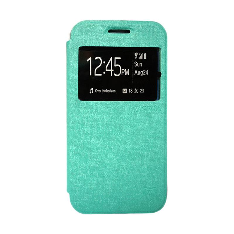 ZAGBOX Flip Cover Casing for Vivo Y21 - Hijau Tosca