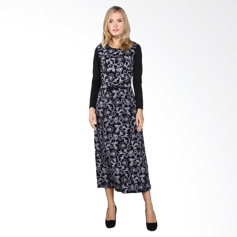 harga Bratajaya Long Maxi Jenita Dress - Black Blibli.com