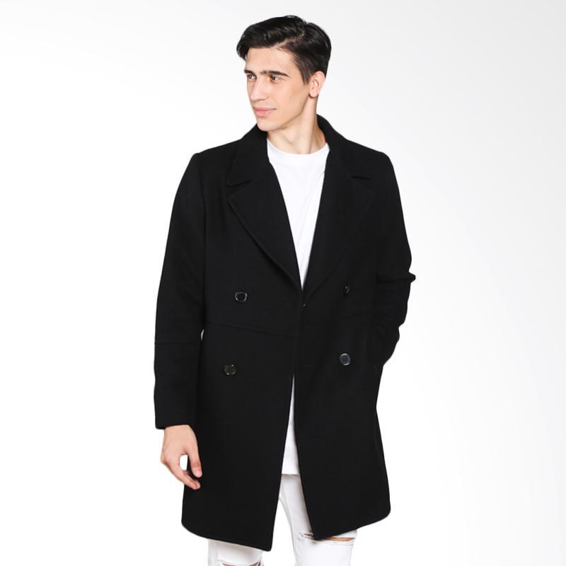 harga COLDWEAR 15655 Trench Coat Jacket Pria - Black Blibli.com