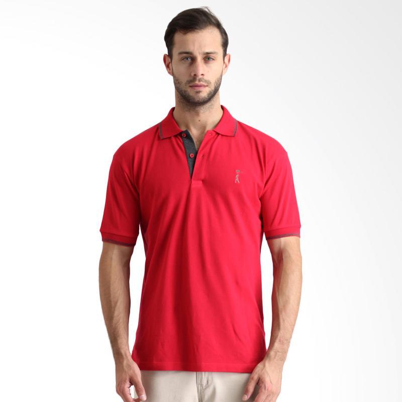 Labette Basic Plain Polo Shirt Pria - Red Extra diskon 7% setiap hari Extra diskon 5% setiap hari Citibank – lebih hemat 10%