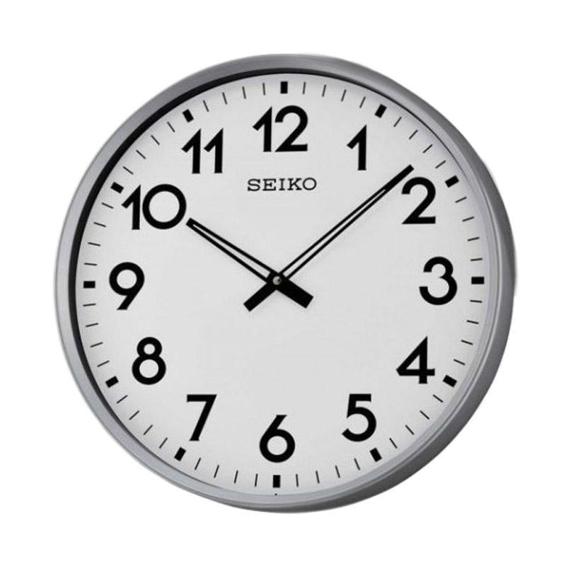 harga SEIKO QXA560S Jam Dinding - Silver White [42 cm] Blibli.com
