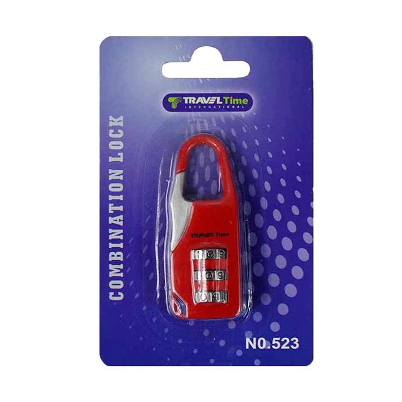 Traveltime 523 Combination Lock - Red