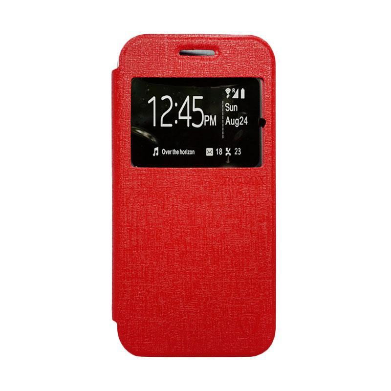 Zagbox Flip Cover Casing for Xiaomi Redmi 2S - Merah
