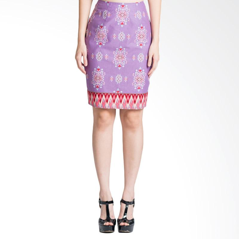 Bateeq 15-057 Printed Regular Skirt - Purple