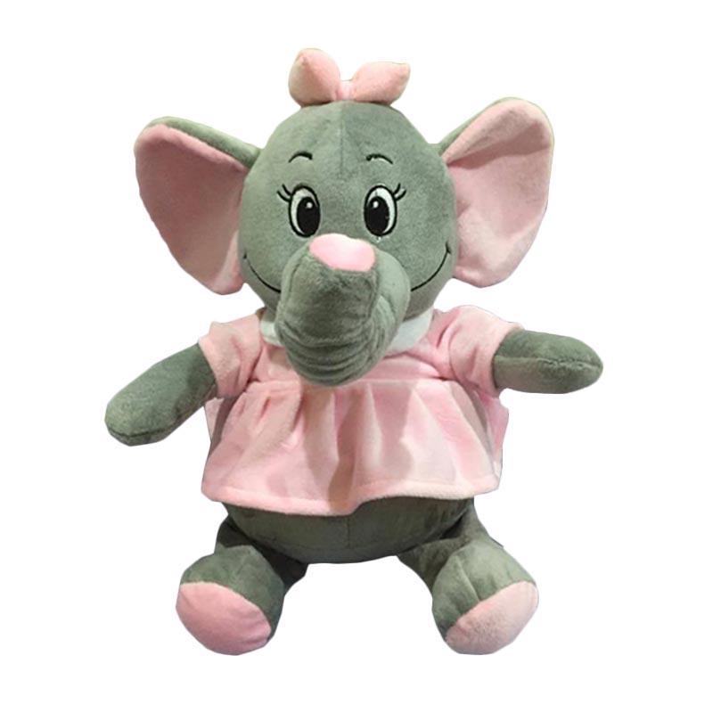 harga Elephant Nicola Gajah Cantik Dress Boneka - Pink [30 cm] Blibli.com