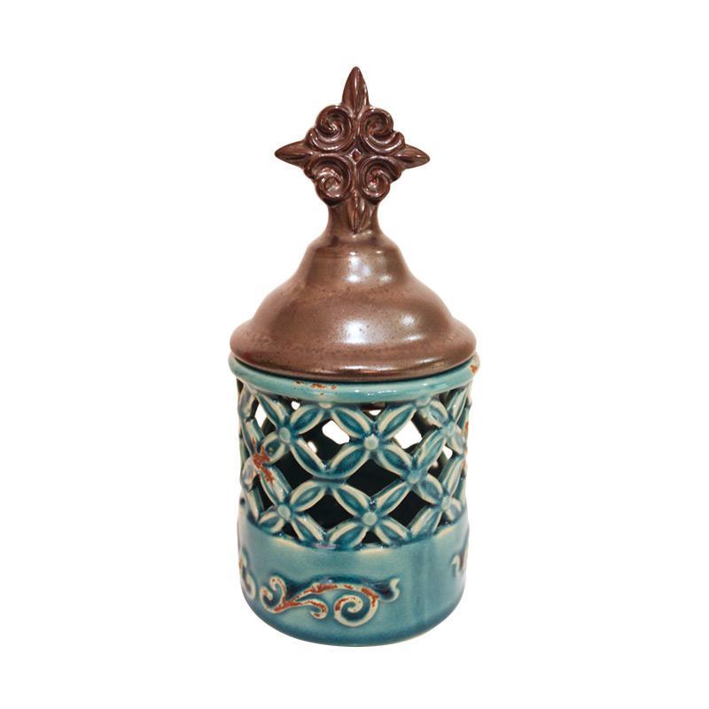 Qhomemart Keramik Hiasan Unik - Blue Star
