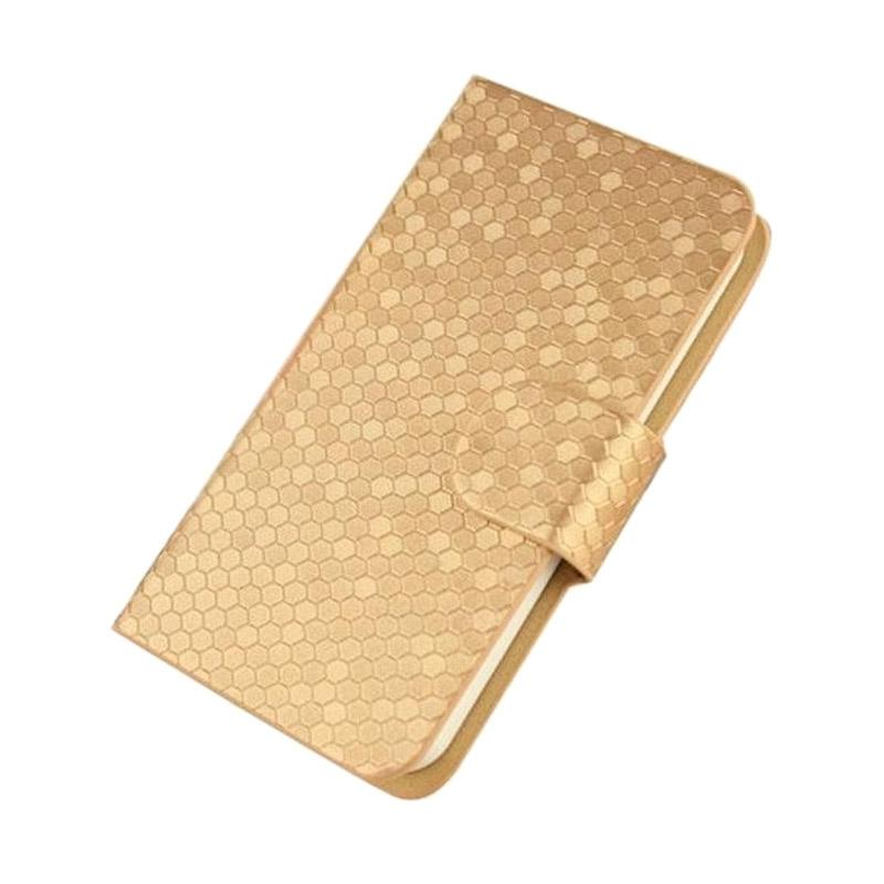 OEM Case Glitz Cover Casing for Huawei Ascend G730 - Gold