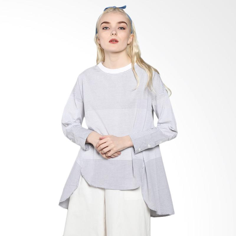 Rodeo 817.0324.GRY Shirt Stripe Blouse - Grey
