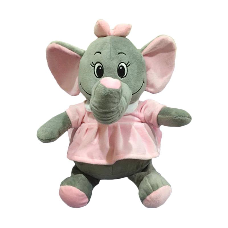 harga Elephant Nicola Gajah Cantik Dress Boneka - Pink [40 cm] Blibli.com
