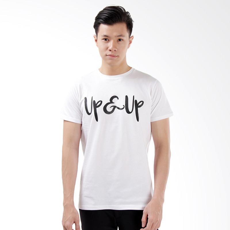 Word.o Up T-shirt Lengan Pendek Pria – Putih