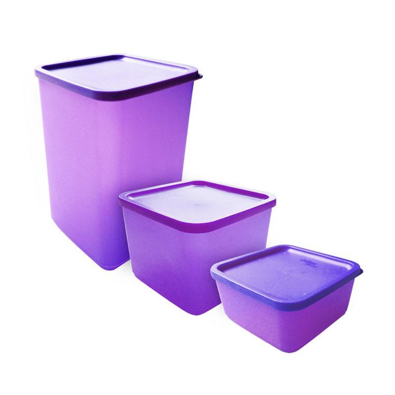 Calista Fresh Set Kotak Makan - Ungu [3 pcs]
