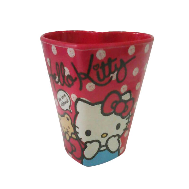 Hello Kitty HK Heart Gelas - Red [350 mL]