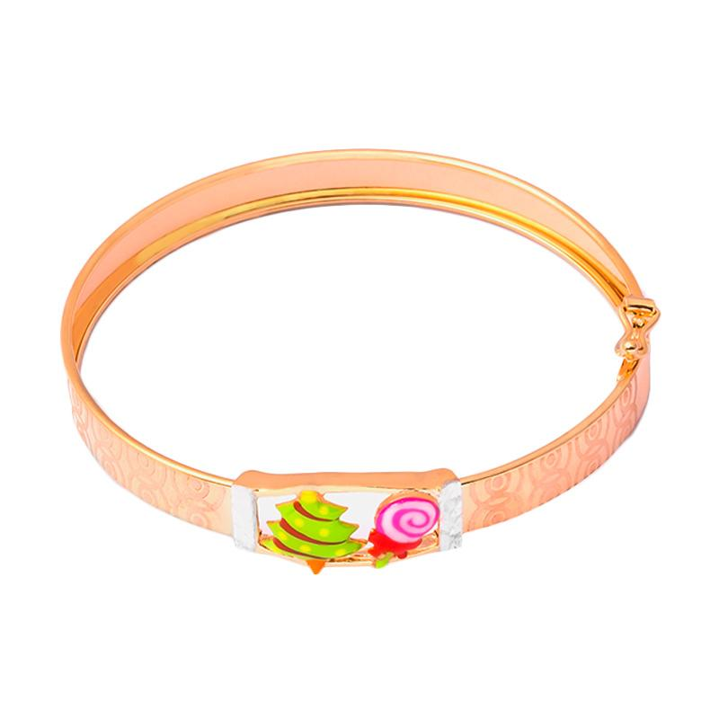 Christmas Tree Gold Kids Bangle - Gelang Emas Anak Kadar 37,5