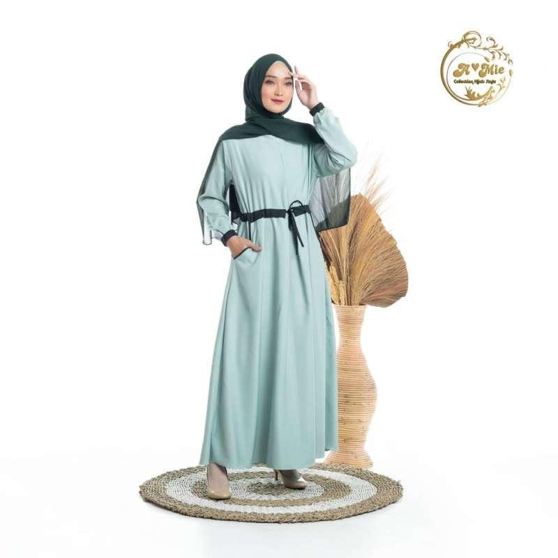 Jual Amie Collection Hijab Style Larisia Dress 4 Warna Mint Fashion Muslim Gamis Santai Homey Online Februari 2021 Blibli