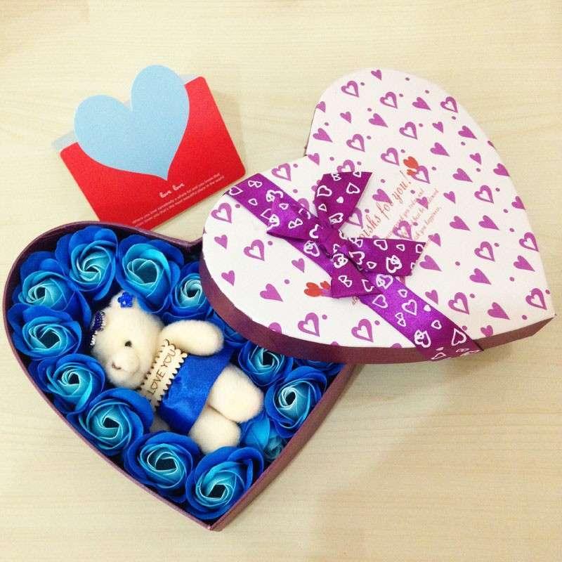 Kado Bunga Valentine Kotak Love Kado Anniversary